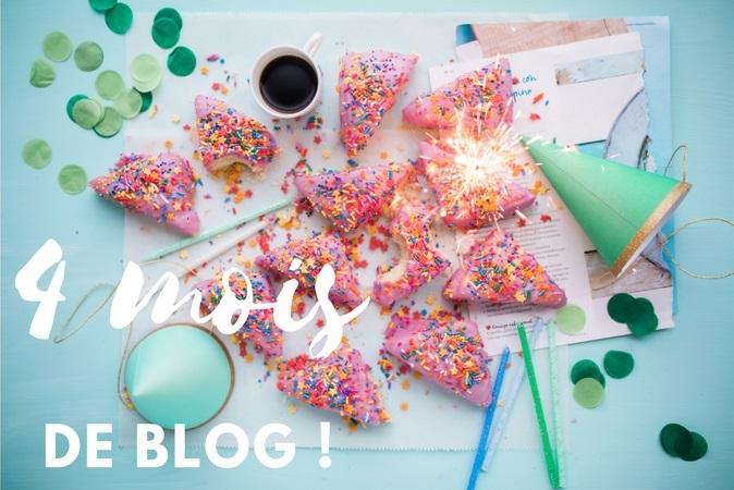 Gâteaux et étincelles pour fêter mes 4 mois de blog