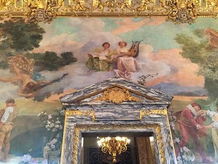 Peinture murale dans le foyer de l'Opéra Comique
