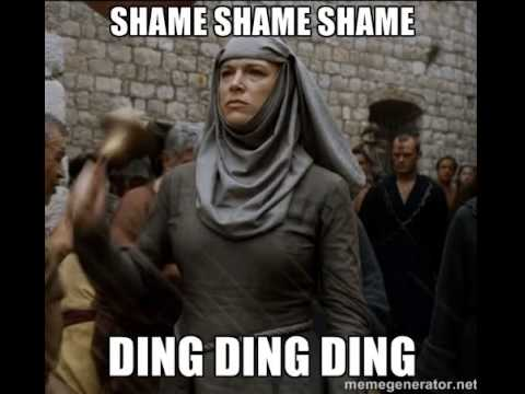Shame, shame, shame ! (ding ding ding)