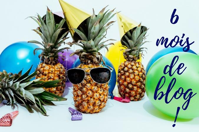 6 mois de blog, fête, ballons, et ananas
