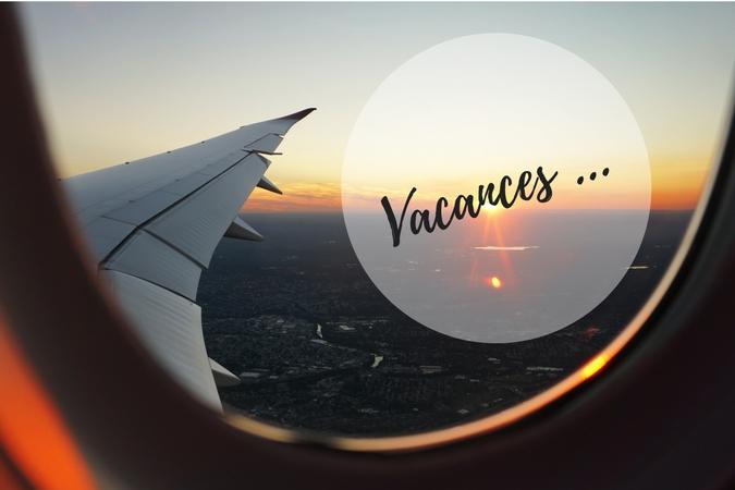 Départ en vacances en avion