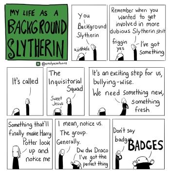 Background Slytherin - Emily et Draco - Badges