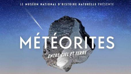 """Affiche de l'exposition """"Météorites"""" au Muséum d'Histoire Naturelle"""
