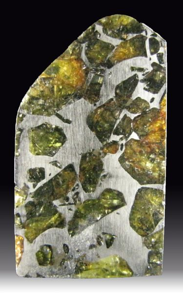 Pallasite - forme rare de météorite