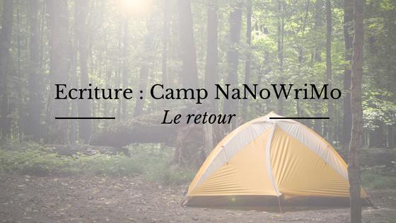 Ecriture : retour du Camp NaNoWriMo au mois de juillet