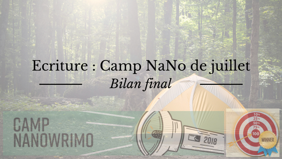 Bilan final du Camp NaNoWriMo de juillet 2018