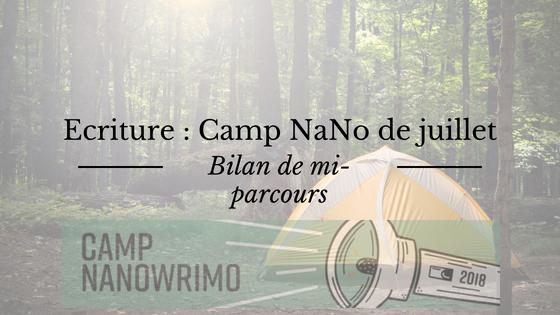 Bilan de mi-parcours du Camp NaNoWriMo de juillet 2018