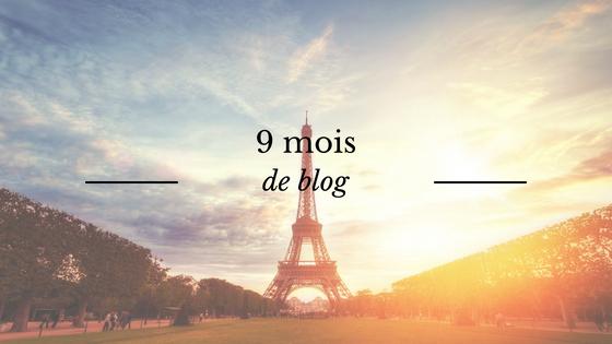 9 mois de blog - bilan mensuel