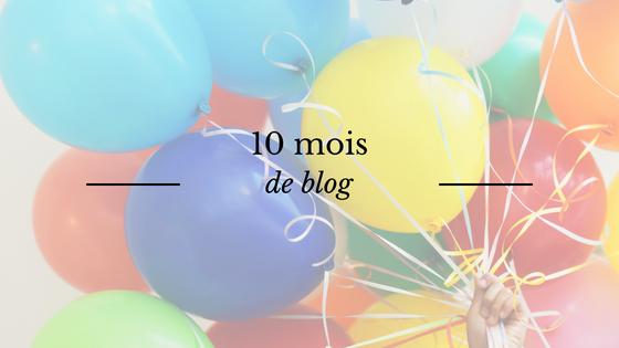 Bilan mensuel : 10 mois de blog