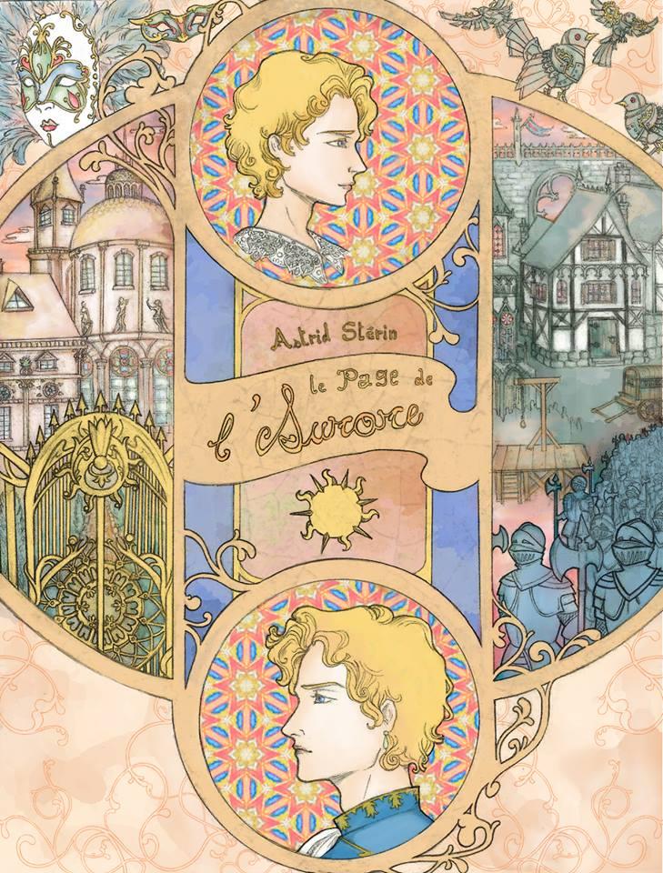 """Couverture du roman de fantasy """"Le Page de l'Aurore"""", par Astrid Stérin, aux éditions Sylphe Rouge (collection Nuada)"""