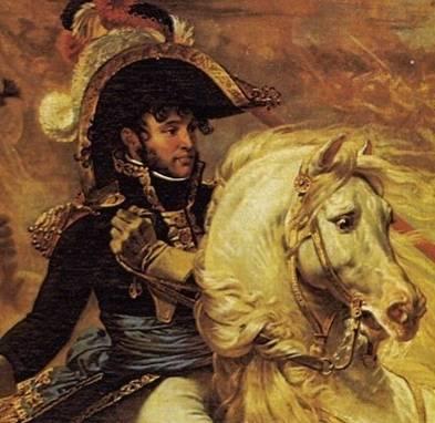 """Le général Murat à la bataille d'Aboukir. Tableau d'Antoine-Jean Gros (1806). Inspiration pour le personnage du Capitaine Jioleff, dans """"Le Page de l'Aurore"""""""