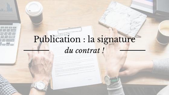 Publication : signature de mon contrat d'édition avec la maison Sylphe Rouge