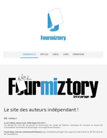 Fourmiztory, le site des auteurs indépendants