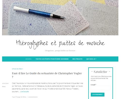 Le blog d'écriture Hiéroglyphes et pattes de mouche