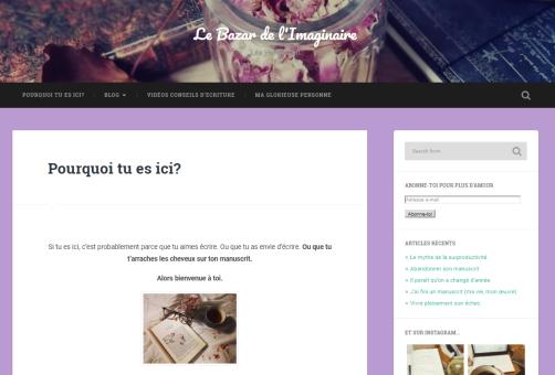 Le Bazar de l'Imaginaire, le blog d'écriture de Lea Hendersen