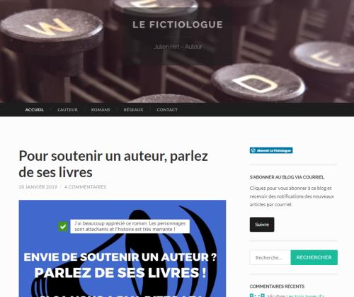 Le Fictiologue - le blog d'écriture de Julien Hirt