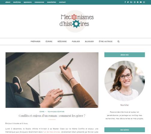 """Le blog d'écriture """"Mécanismes d'histoires"""""""