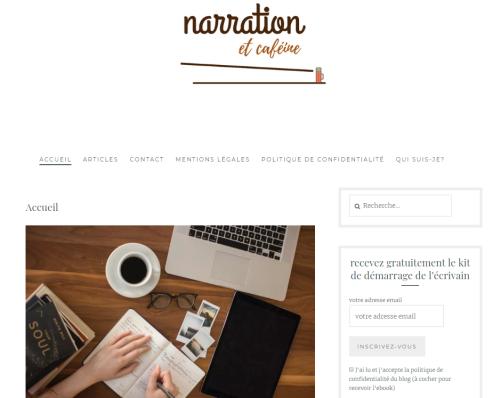 """Le blog d'écriture """"Narration et caféine"""""""