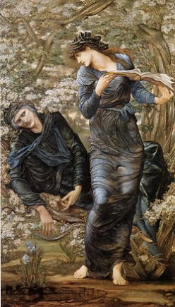 La Séduction de Merlin, Burne-Jones, 1872-77