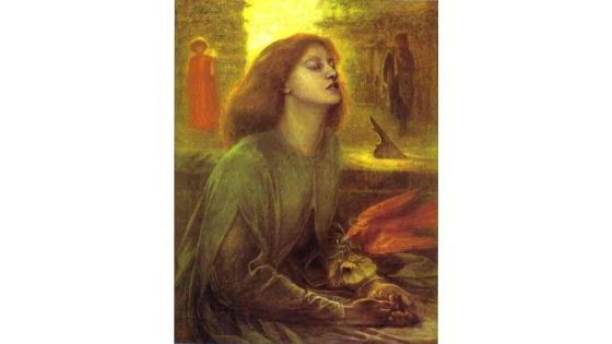 Beata Beatrix, Rossetti, 1870