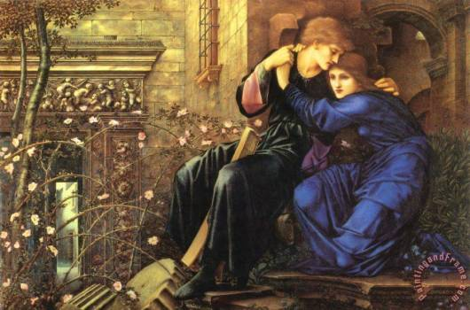 Love Among the Ruins, Burne-Jones, version à l'huile de 1894