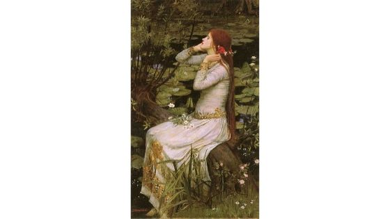 Ophelia, Waterhouse, 1894