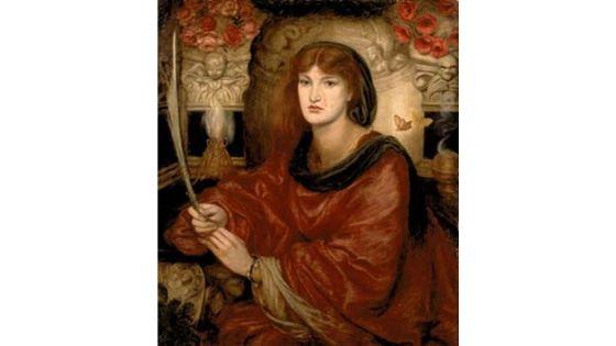 Sibylla Palmifera, Rossetti, 1870