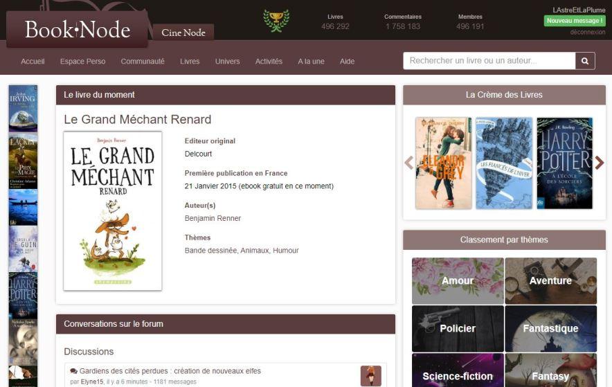 Page d'accueil Booknode