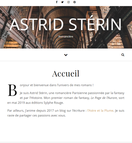Page d'accueil - astrid-sterin.fr - mai 2019