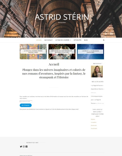 Page d'accueil - astrid-sterin.fr - mai 2020